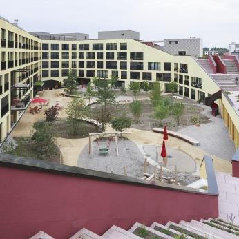 Kalkbreite Innenhof (c) Müller Sigrist Architekten AG